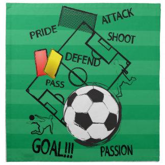 Mål för fotbollfotbollattack tygservett