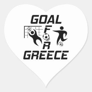 Mål för Grekland Hjärtklistermärken