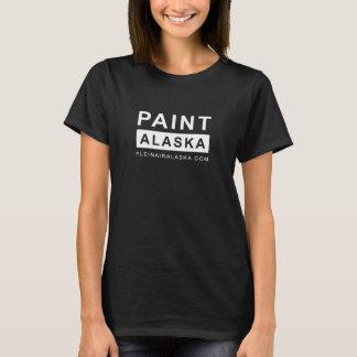 MÅLA ALASKA - damer svärtar målningskjortan Tee Shirt