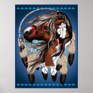 Måla det hästDreamcatcher trycket Print