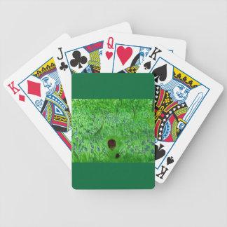 Måla för igelkottar för blåklocka Wood Spelkort