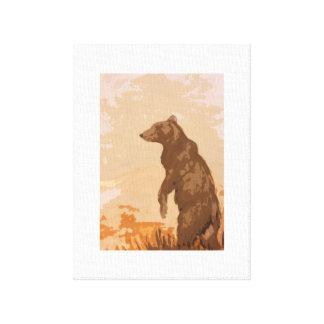 Måla för nallebjörn canvastryck
