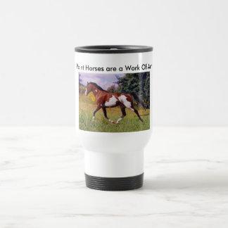 Måla hästen som traver muggen resemugg