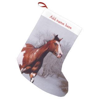 Måla hästsnöjulstrumpan liten julstrumpa