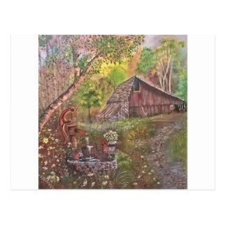 måla målning räcker konstnaturen vykort