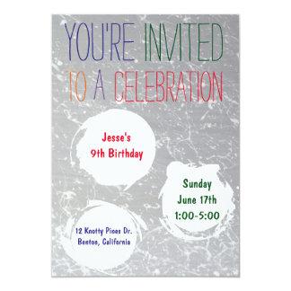 Måla partyet för ungar för Splatterinbjudan   det 12,7 X 17,8 Cm Inbjudningskort