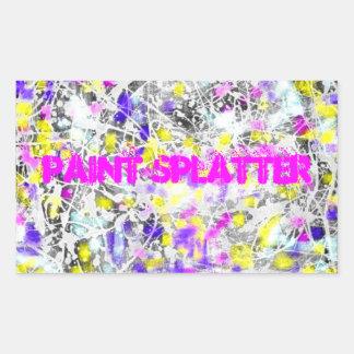 måla splatteren och drypa konst rektangulärt klistermärke