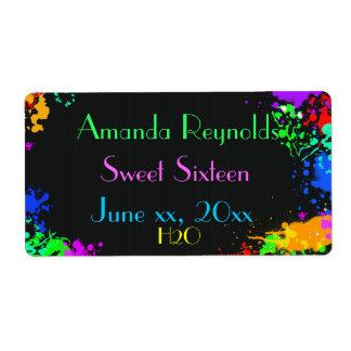 Måla splatteren, sweet sixteen, beställnings- fraktsedel
