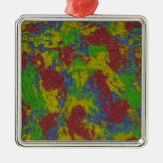 Måla stänk kvadrerar prydnaden julgransprydnad metall