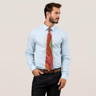 Måla tjockt orangen slips