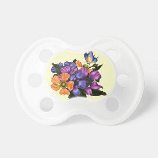Målad anemoner & fjäril napp