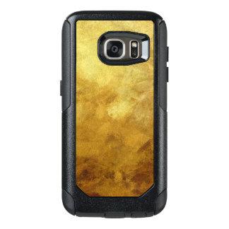 målad bakgrund för konst abstrakt i guld- färg OtterBox samsung galaxy s7 skal