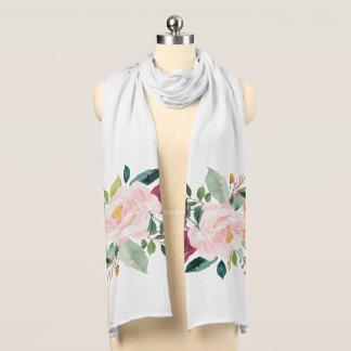 Målad blom- pionScarf Skarf