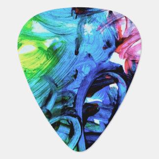 Målad gitarr Plektrum
