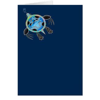 Målad havssköldpadda hälsningskort