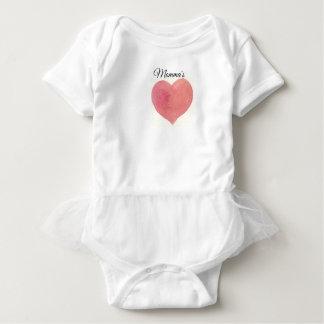 Målad hjärta för vattenfärg ro t-shirt