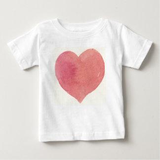 Målad hjärta för vattenfärg ro t-shirts
