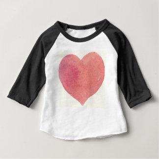 Målad hjärta för vattenfärg ro tshirts