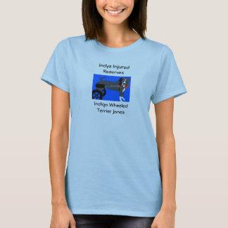 Målad indigoblått tee shirts