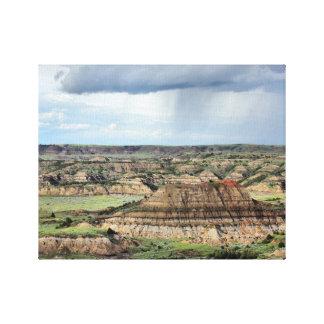Målad kanjon i Bandlandsen av North Dakota Canvastryck