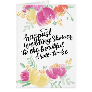 Målad mest lycklig möhippa för dusch   hälsningskort