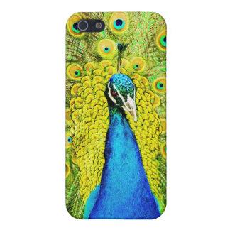 Målad påfågeliphone case iPhone 5 cover