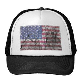 Målad patriotisk amerikanska flaggan för ladugård  keps