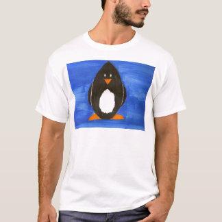 Målad pingvint-skjorta tröjor