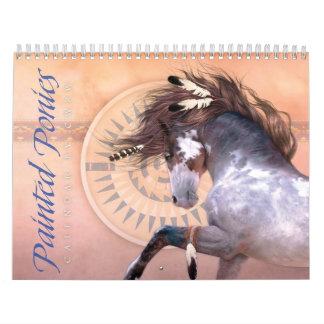 Målad ponnykalender kalender
