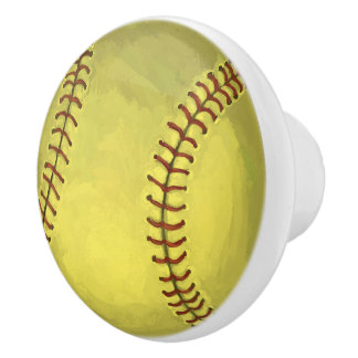 Målad softballkonst knopp