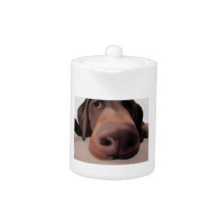 Målad stor näsa för Teakrukahund