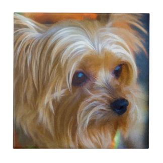 Målad Terrier för dam Yorkshire Kakelplatta