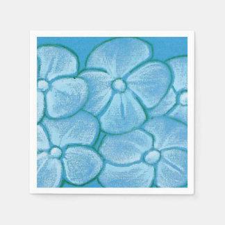Målade blommablåttservetter pappersservetter