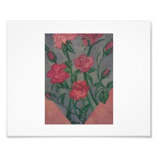 Målade blommor fototryck