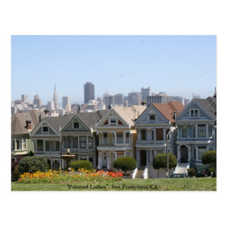 Målade damer, San Francisco Vykort