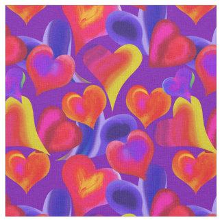 Målade hjärtor på valentin för lilor | dag tyg
