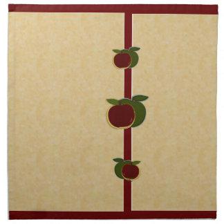 Målade servetter för äpplen (foe/cranberry)