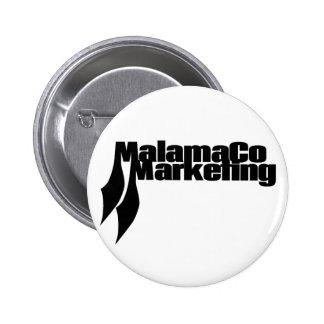 MalamaCo marknadsföring knäppas (svarten). Standard Knapp Rund 5.7 Cm
