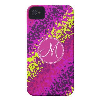Målar magentafärgade rosor för beställnings- iPhone 4 cover