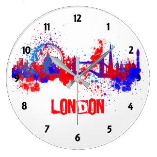 Målar rött vitt blått konstnärligt för London Stor Klocka