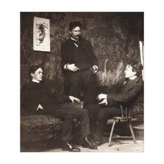 Målare Everett Shinn Robert Henri John Sloan Canvastryck