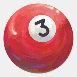 Målat bollmönster för 3 bassäng runt klistermärke