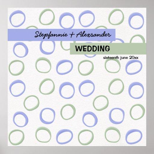 Målat cirklar lavendelbröllopaffischen affisch
