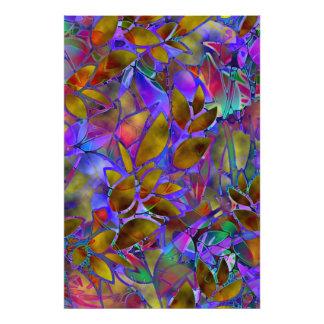 Målat glass för abstrakt för fototryckblommigt fotografiska tryck