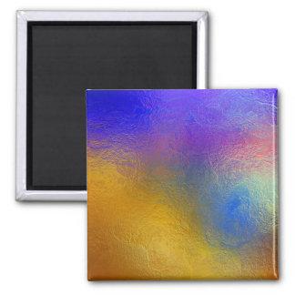 Målat glass genomskinligt färgrikt skina fönster magnet