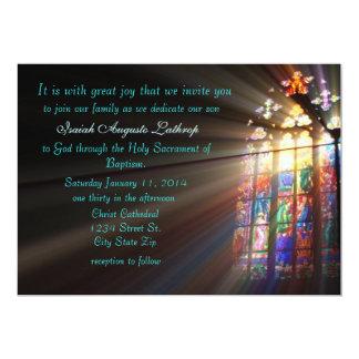 Målat glassdopinbjudan/meddelande 12,7 x 17,8 cm inbjudningskort