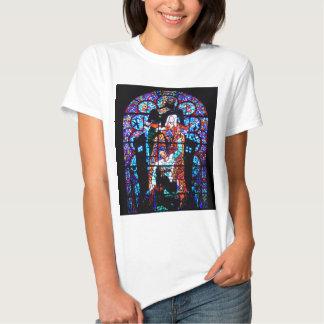 Målat glassfönster tee shirts