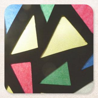 Målat glassmönsterunderlägg underlägg papper kvadrat