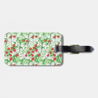Målat jordgubbemönster bagagebricka