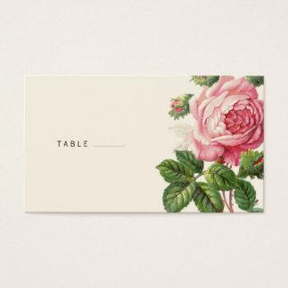 Målat rosa Boho för vintage bröllop Visitkort